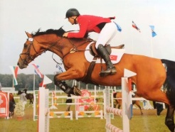 Kate's friend Cem Uzman, competing his mare in Turkey.