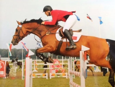 Kate's friend Cem Uzman, competing his mare in Turkey.